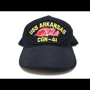 NEW VINTAGE USS ARKANSAS CGN-41 ARMY HAT CAP NAVY